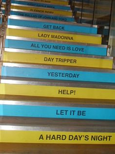 Stairs in The Beatles Museum in Liverpool