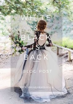 White & Black Wedding Dresses are right on trend for 2018 brides. Find out why with our blog. Image source for main thumbnail image: Luna de Mare photography, dress by Elizabeth Mackenzie