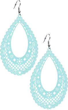 PAPEL PICADO TEARDROP EARRINGS TEAL - Jewelry - Gals