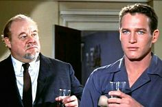 Burl Ives and Paul Newman in Cat On A Hot Tin Roof 1958