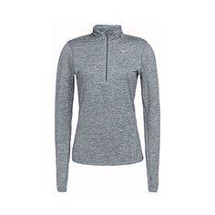 Nike Element half-zip jacket ($56) ❤ liked on Polyvore featuring activewear, activewear jackets, jackets, tops, nike activewear, nike sportswear and nike