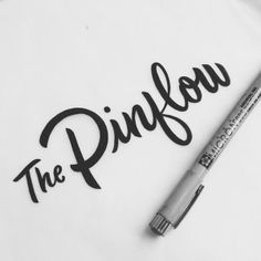 The Pinflow: Lettering by Drew Melton #Typography #Design
