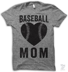 Proud baseball mom. Digitally printed on American Apparel's athletic tri-blend t-shirt. You'll love it's classic fit and ultra-soft feel. 50% Polyester / 25% Rayon / 25% Cotton. Each shirt is printed