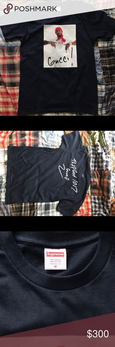 SUPREME GUCCI MANE TEE M 9/10 CONDITION SIZE MEDIUM Supreme Shirts Tees - Short Sleeve