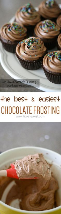 Seriously the best chocolate frosting to top any dessert! Simple ingredients and it turns out perfectly EVERY TIME.