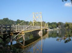 Beautiful Beaver Bridge - our one-lane suspension bridge over the White River