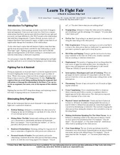 """Our """"Learn To Fight Fair LearnBytes Helpcard is a quick reference card to help you and your family learn to fight fair, and reduce the destructive effects of family arguments."""