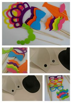 3 D Foamy Photo Booth Party Props Includind 2 sets of by PICWRAP, $34.99