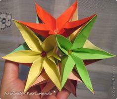 Кусудама Мастер-класс Оригами МК Кусудама Бумага фото 1