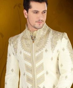 Indian Luxury Sherwani For wedding Party are design for men's. All gents like to wear Sharwani in wedding event.