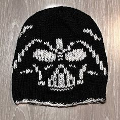 Get the Darth Vader knitting pattern to create your own hat or whatever comes to your mind. A must knit for every Star Wars Fan!
