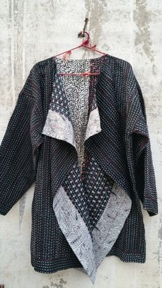 Waterfall Collar Jacket recycled silk by TheStitchingProject