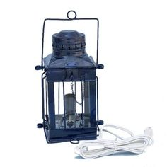 Handcrafted Nautical Decor Cargo Electric Lamp Finish: Dark Blue