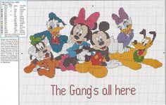 cross stitch children graphics - Disney