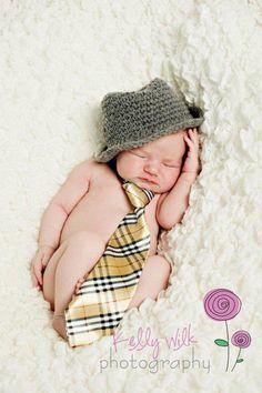 Genuine ORIGINAL Design Baby Boy Fedora Hat Photography Props Newborn To 3 Months Handmade In Canada on Luulla