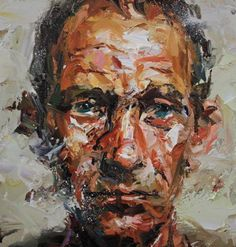 """Paul Wright Wright Archive - Paul Wright A New Hope - Oil on board<script src=""""/permanent/stats_update_screen_res. Portrait Acrylic, Portrait Art, Paul Wright, Painting Collage, Painting Portraits, Art Alevel, Palette Knife Painting, Modern Artists, Contemporary Artists"""