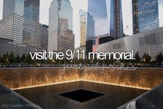 To visit the 9/11 memorial