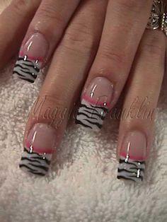 72 Best Zebra Nail Designs Images On Pinterest Maquillaje Cute