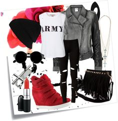 """rocker chic"" by mzjaeda ❤ liked on Polyvore"