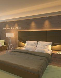 Raumsinn – Innenarchitektur Bed, Furniture, Home Decor, Interior Designing, Stream Bed, Interior Design, Home Interior Design, Beds, Arredamento