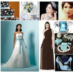 """""""Brown and Blue Wedding Theme"""" by ..."""