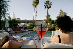 A New York Times article telling everyone why they need to vacation in Palm Springs, CA this summer. Of course they left out that you can get an all over tan at Terra Cotta Inn nude sunbathing resort and spa.