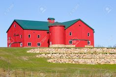 Newly Built And Landscaped Amish Barn Stock Photo, Picture And ...
