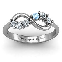 Split Infinity Promise Ring #jewlr I kinda like the blue diamond...