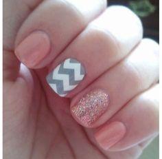 Super cute mixed nails! #GoPreppy