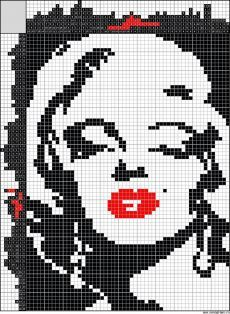 Bead Loom Patterns, Beading Patterns, Embroidery Patterns, Intarsia Knitting, Knitting Stitches, Pixel Art Coeur, Cross Stitching, Cross Stitch Embroidery, Hand Embroidery