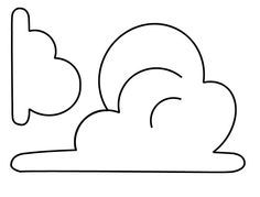 """Cloud template for Toy Story """"Andy's Room"""" theme we'll do in baby's room. But I want to blow it up and do a few large clouds on one wall, instead of all over."""