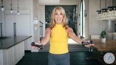 Sexy Arm Workout Part 3 Minutes to Trimmer Arms - Denise Austin Denise Austin, 3 Minute Arm Workout, Tone Arms Workout, Arm Flab, Fitness Workout For Women, Fitness Women, Senior Fitness, Toned Arms, Yoga Lifestyle