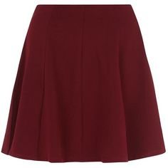 Burgundy Skater Skirt ($16) ❤ liked on Polyvore featuring skirts, mini skirts, bottoms, faldas, saias, burgundy, red circle skirt, flared skirt, skater skirt and mini flare skirt