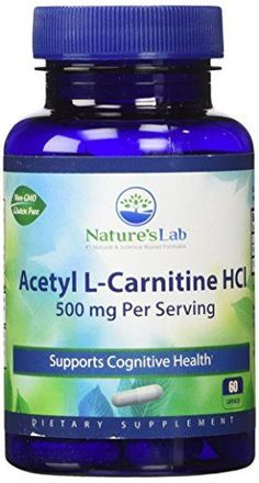 Nature's Lab Acetyl L-Carnitine Hcl Capsules, 500 mg, 12 Count