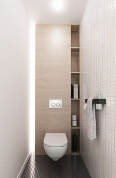 6 Best Bathroom Style Minimalist - Here I will give some picture of the minimalist bathroom that could possibly be an inspira Bathroom Toilets, Laundry In Bathroom, Bathroom Storage, Bathroom Shelves, Wc Bathroom, Toilet Storage, Powder Room Storage, Shower Storage, Shower Shelves