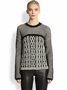 Yigal Azrouel - Cable-Knit Crewneck Sweater - Saks.com