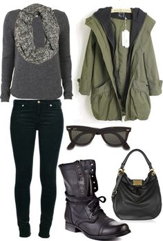 """Perfect Fall Outfit"" .....cute Minus the bag and scarf"