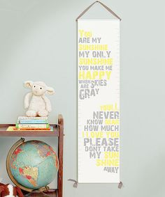 Take a look at this 'You Are My Sunshine' Growth Chart by Gus & Lula on #zulily today!
