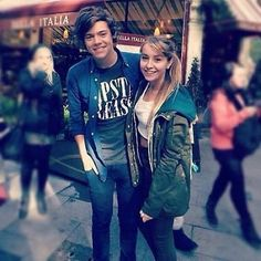 She stood on the wrong side....but he's rocking the hipsta please shirt as always:)
