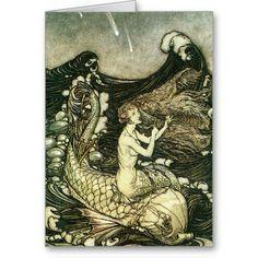 "liquidnight: ""To hear the sea-maid's music"" Illustration by Arthur Rackham for A Midsummer Night's Dream, Act II, Scene I, 1908 Arthur Rackham, Art And Illustration, Book Illustrations, Mermaid Illustration, Fantasy Artwork, Sirens, Elisabeth I, Art Magique, Vintage Mermaid"