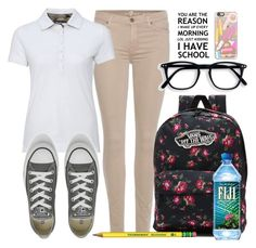 """""""School style"""" by carogamer ❤ liked on Polyvore featuring 7 For All Mankind, Barbour, Converse, Vans and Casetify"""