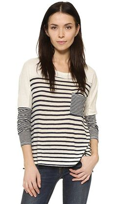 Love this casual striped shirt. Neutral, black and white, great for chilly fall days, evenings, and weekends. #afflink #az