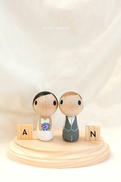 Hey, I found this really awesome Etsy listing at https://www.etsy.com/listing/193781207/customize-wedding-cake-topper-kokeshi