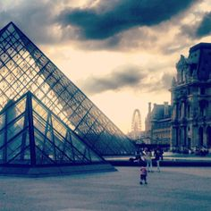 Louvre at Night 16X20 by WanderLust247 on Etsy, $39.00
