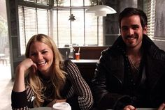 Jennifer & Colin behind the scenes of OUAT.