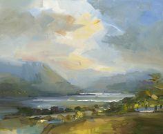 David Atkins Just After Rain, Ullswater Oil on Panel 80 x 96 cm #Art #Paintings #Landscape