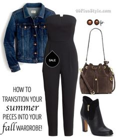 How to transition you summer pieces into your fall wardrobe | 40plusstyle.com