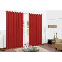 Cortina Para Sala Ou Quarto - 3,00m X 2,60m - Vermelho