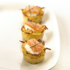 Elegant and dainty, these smoked salmon bites could be the perfect hors d'oeuvres for your Spring cocktail party.