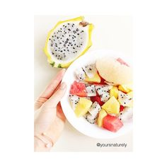 """Habit is health or disease."" So choose health by fruiting it up every day! Like having this bowl of watermelon, pineapples, yellow dragon fruit and pomelo for breakfast   #fruits #pitaya #health #healthy #healthyliving #holistic #wellness #fitfam #nutrition #fitlife #vegan #veganfood #superfood #veganfoodshare #plantbased #plantpower #wholefoods #raw #rawfood #fruitlife #poweredbyplants #nourishyourself #fruitarian #sgblog #sgbloggers #healthblog #vegansofig #bangle #etsy"